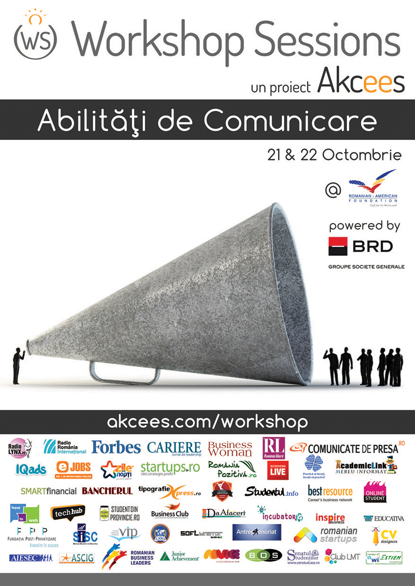 Învaţă să comunici eficient la o nouă ediţie Workshop Sessions