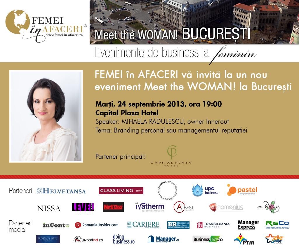 Femei în Afaceri la București - Despre branding personal