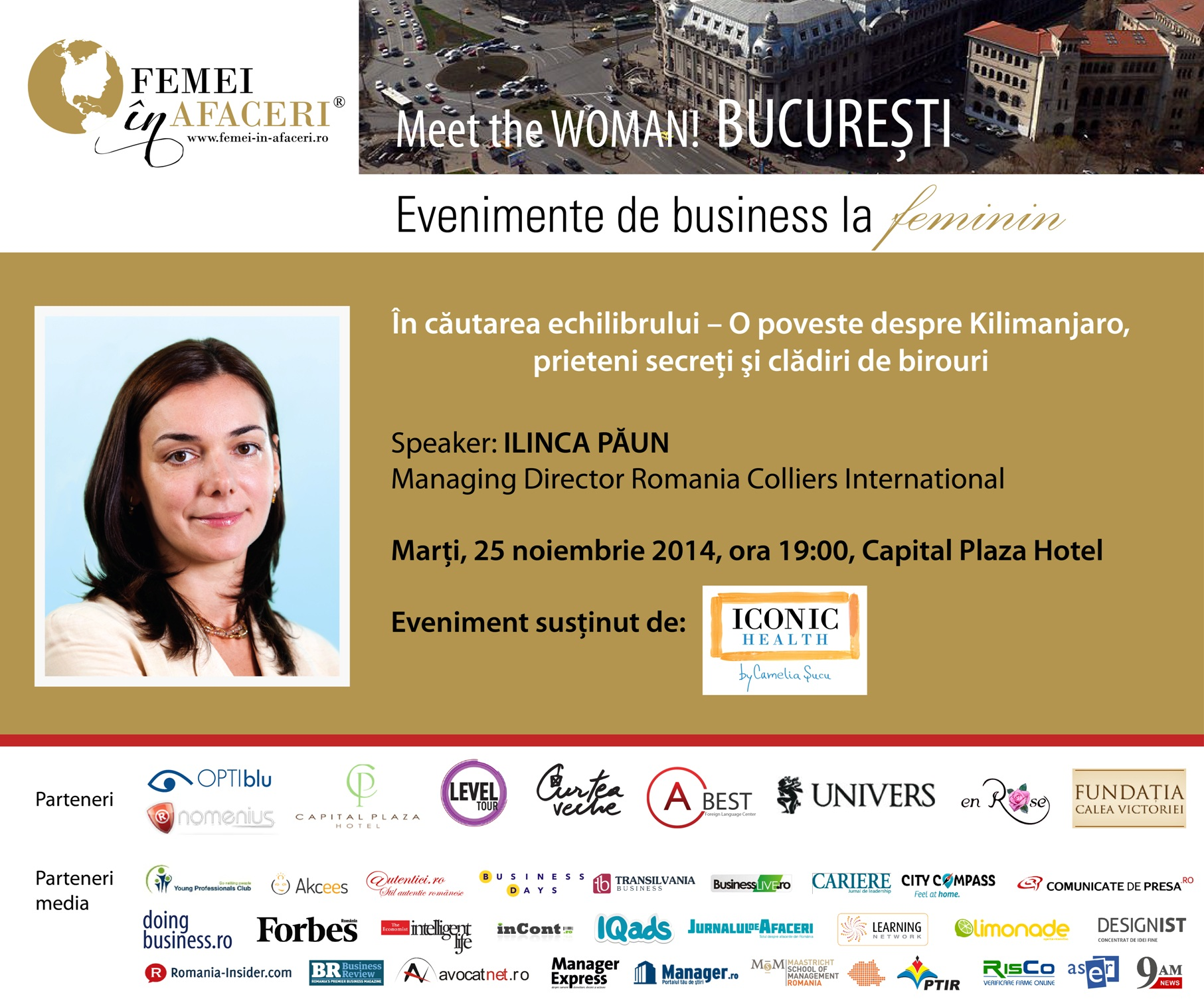 In cautarea echilibrului cu Ilinca Paun,  Managing Director Romania Colliers International, speaker la Meet the WOMAN!