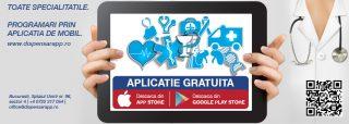 Dispensar, prima aplicație gratuită de mobil pentru programări medicale
