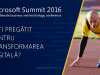 Ambasadorii transformarii digitale pe scena Microsoft Summit 2016