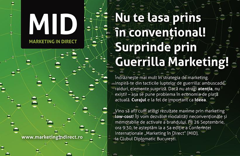 """Conferința Internațională """"Marketing în Direct"""", pe 26 septembrie, în București"""