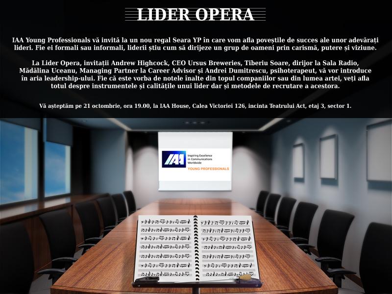 Lider Opera - O seară YP despre leadership