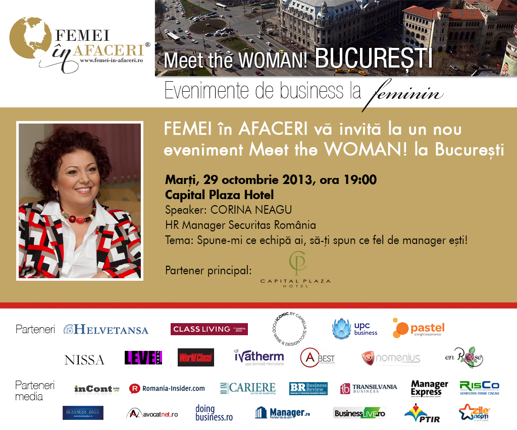 Corina Neagu, HR Manager Securitas România, speaker la Meet the WOMAN! București