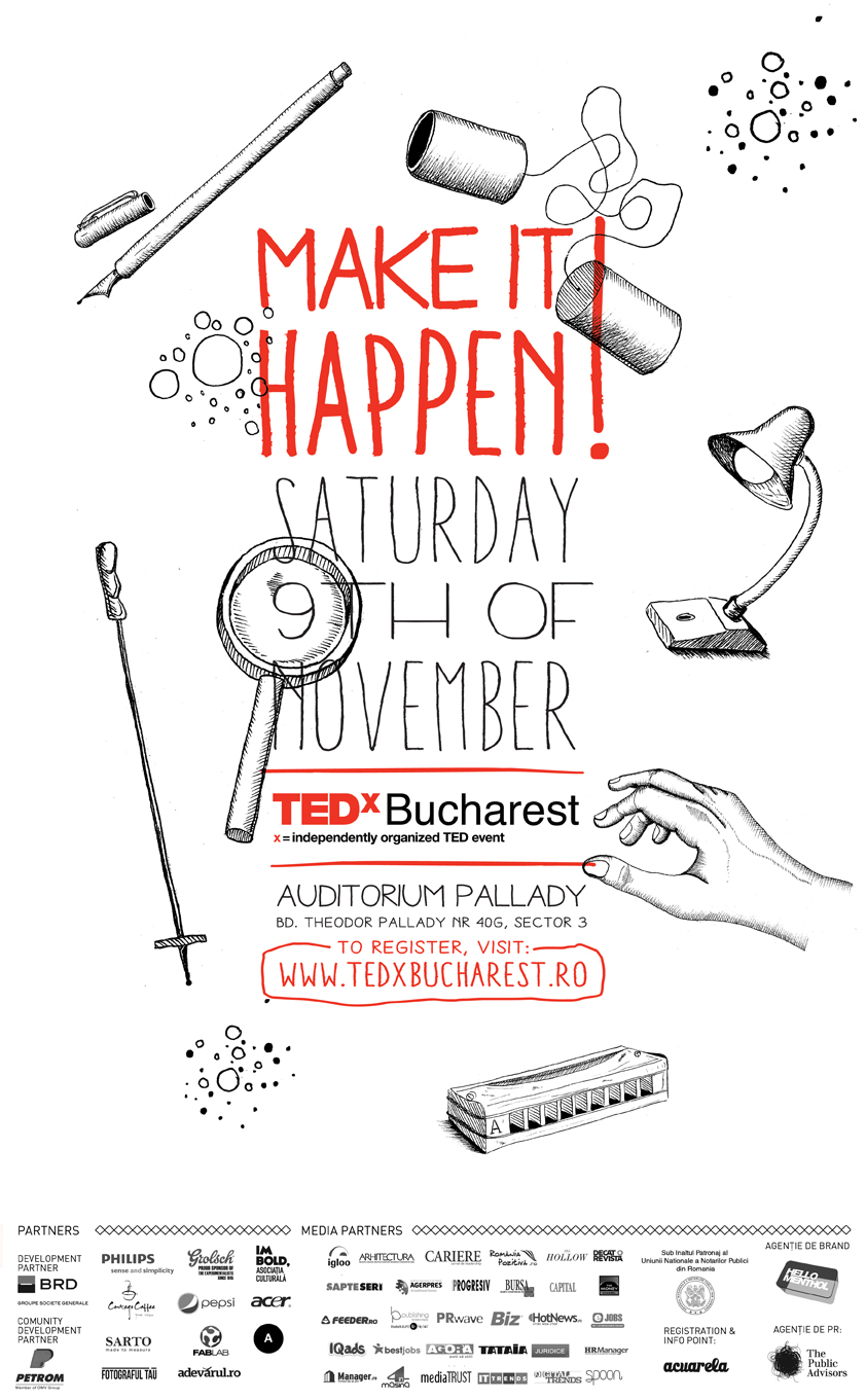 20 de speakeri la cea de-a cincea ediție a TEDxBucharest