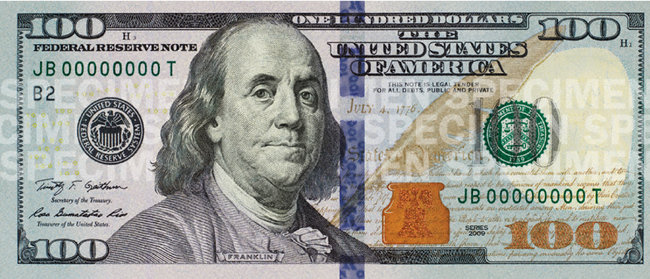 SUA are o nouă bancnotă de 100 de dolari