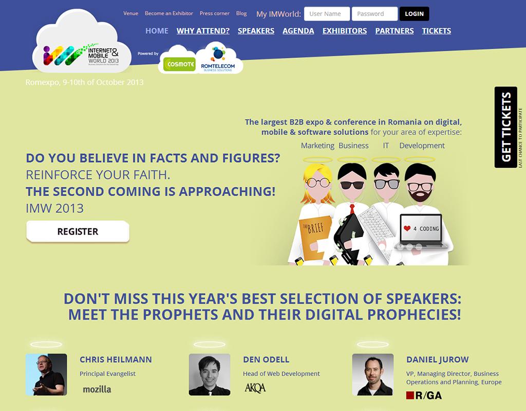 Saatchi & Saatchi a dezvoltat conceptul creativ pentru Internet & Mobile World 2013