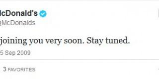Primul mesaj pe Twitter dat de marile branduri