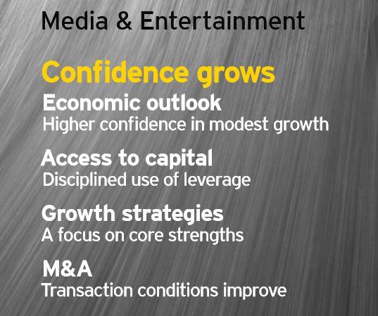 Studiu EY: Industria de media şi divertisment încrezătoare în revenirea economiei globale