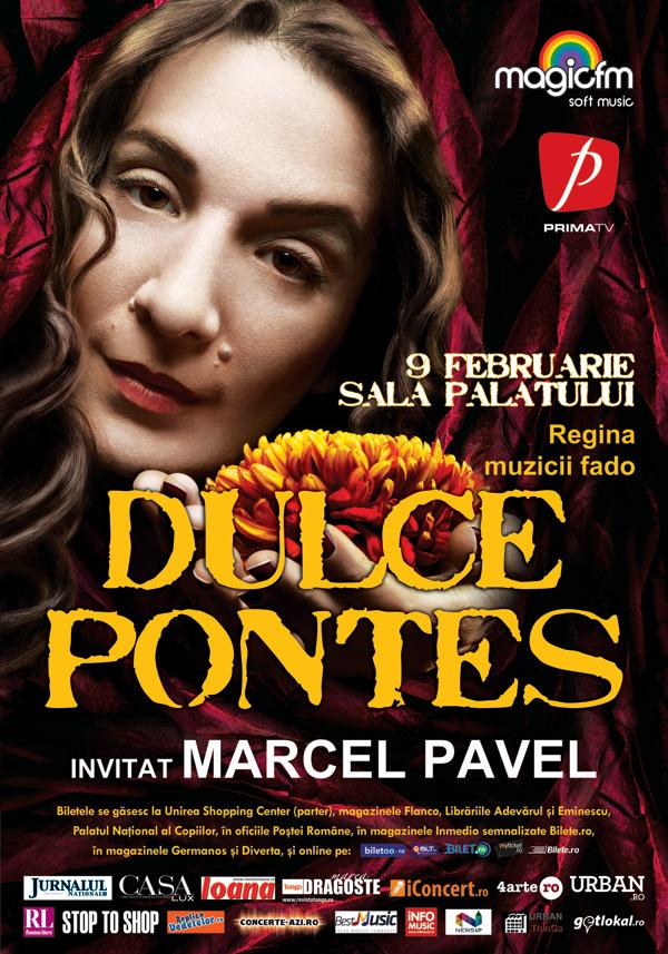 Dulce Pontes concertează pe 9 februarie la Bucureşti