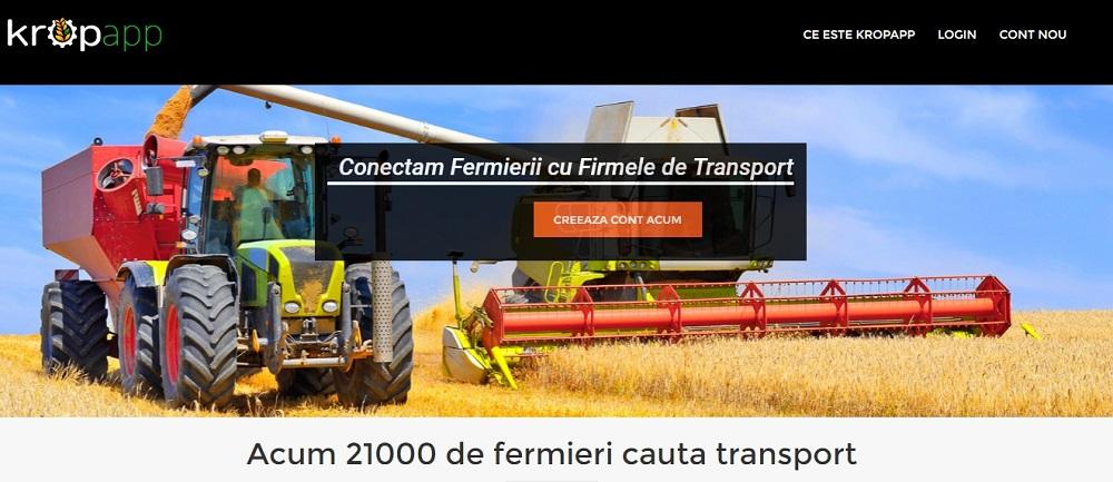 kropapp, Platforma care conectează fermierii şi comercianții de cereale cu transportatorii