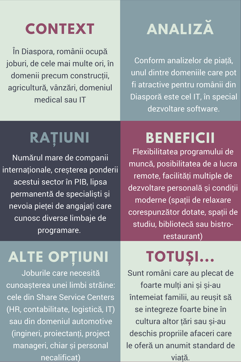 Joburile in IT, prima optiune pentru romanii din Diaspora