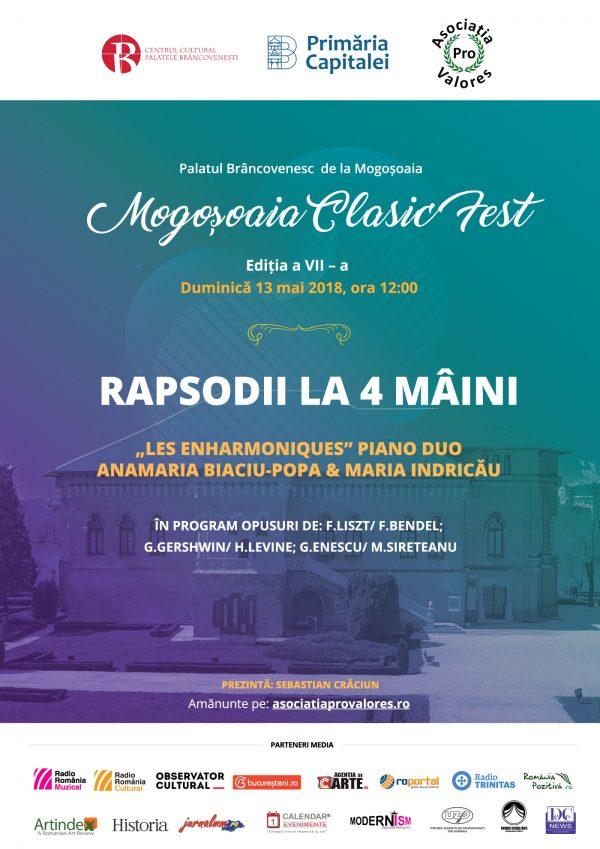 Rapsodii la 4 maini, la Palatul Mogosoaia