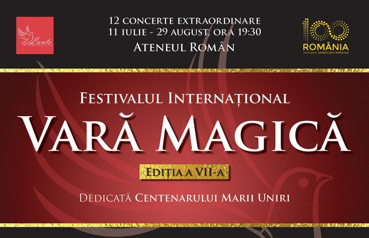 "Ateneul Roman te invita la Festivalul International ""Vara Magica"" 2018"