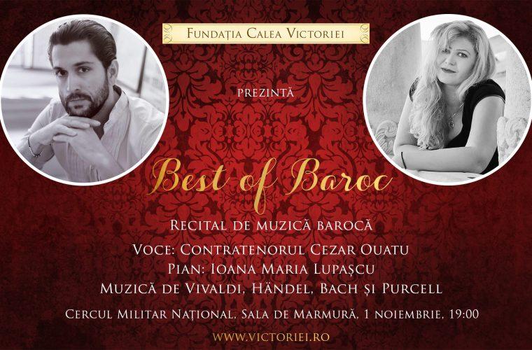 BEST of BAROC Recital de muzica baroca cu Cezar Ouatu si Ioana Maria Lupascu