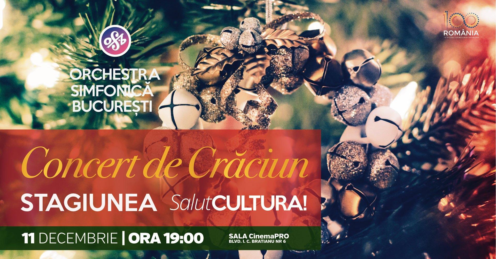 Orchestra Simfonica Bucuresti pregateste un Concert Extraordinar de Craciun parte a Stagiunii SalutCULTURA