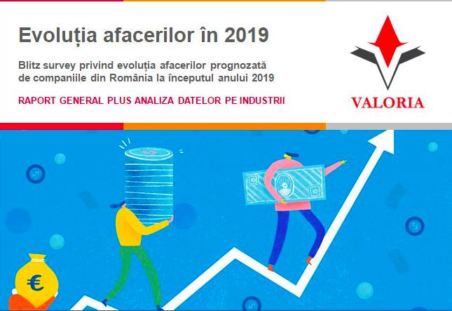 Date comparative 2017-2019 in noua editie a studiului Valoria privind evolutia afacerilor