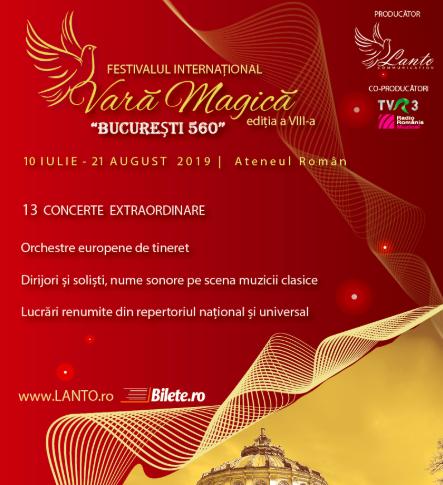 """13 concerte extraordinare in Festivalul International """"Vară Magica"""""""