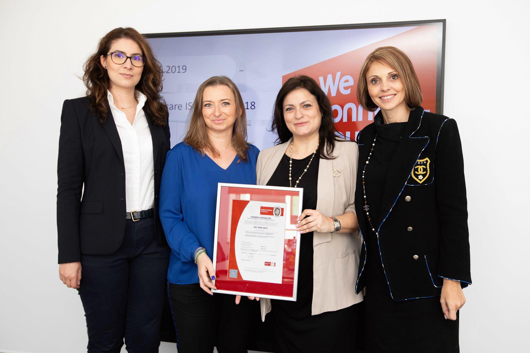Edenred Romania a obtinut prima certificare de calitate din Romania in Customer Satisfaction