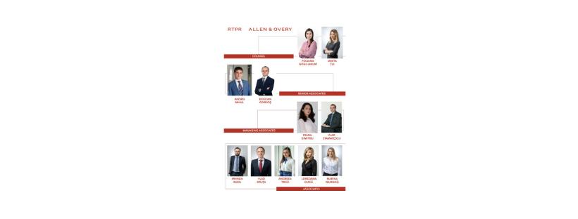 Casa de avocatura RTPR Allen & Overy anunta cine sunt avocatii promovati
