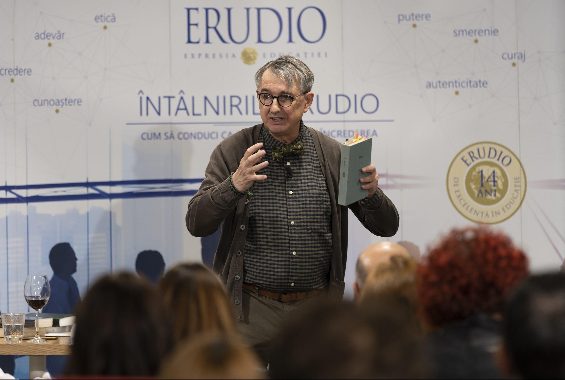 """conferinte despre """"Cum sa conduci ca sa construiesti increderea"""", sustinute de catre Horia Roman Patapievici"""