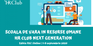 Intre 1 si 9 septembrie 2020, are loc Scoala de Vara HR Club Next Generation